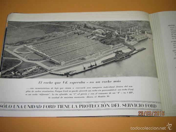 Coches y Motocicletas: Antiguo Catalogo en Español del Coche FORD Modelo 10 del Año 1935 de Ford Motor Iberica Barcelona - Foto 6 - 55889566