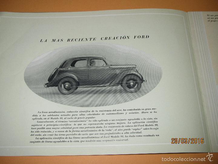 Coches y Motocicletas: Antiguo Catalogo en Español del Coche FORD Modelo 10 del Año 1935 de Ford Motor Iberica Barcelona - Foto 7 - 55889566