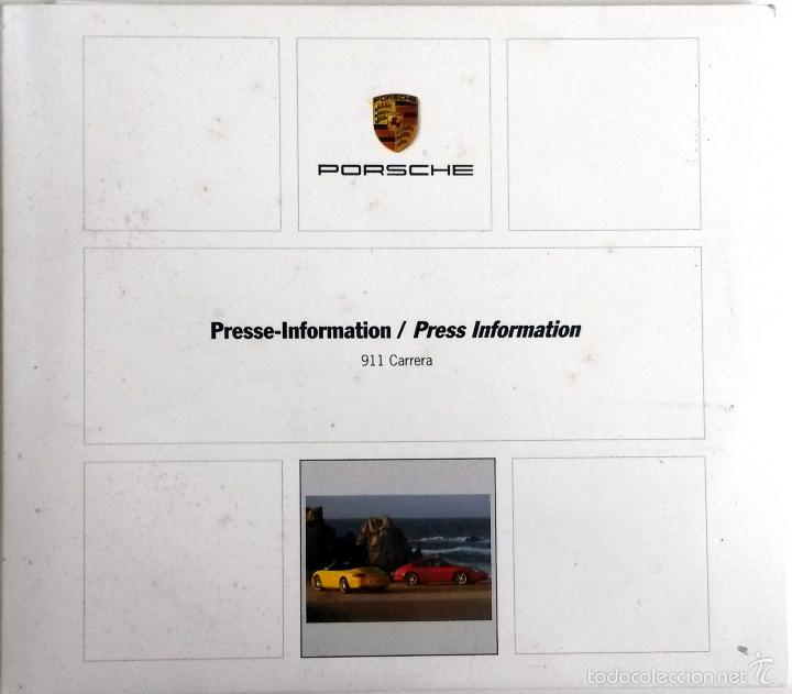 CD - DVD - DOSSIER DE PRENSA ORIGINAL PORSCHE 911 CARRERA. (Coches y Motocicletas Antiguas y Clásicas - Catálogos, Publicidad y Libros de mecánica)