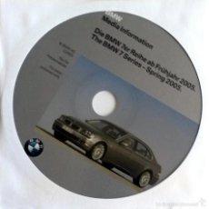 Coches y Motocicletas: CD - DVD - DOSSIER DE PRENSA ORIGINAL BMW.- 7 SERIES - SPRING 2005.. Lote 55908617