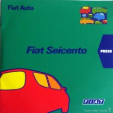 Coches y Motocicletas: CD - DVD - DOSSIER DE PRENSA ORIGINAL FIATSEICENTO.. Lote 55995424