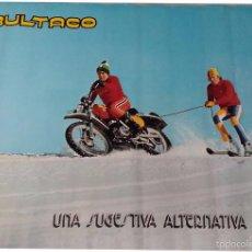 Coches y Motocicletas: BULTACO, CARTEL 1976, UNA SUGESTIVA ALTERNATIVA. FOTO H. LEITNER.. Lote 202768495