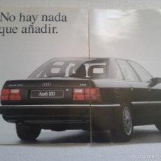 Coches y Motocicletas: ANTIGUO CATALOGO AUDI 100 CD AÑO 1990. Lote 56005423