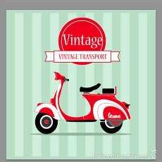 Coches y Motocicletas: AZULEJO 20X20 DE VESPA VINTAGE. Lote 56103046