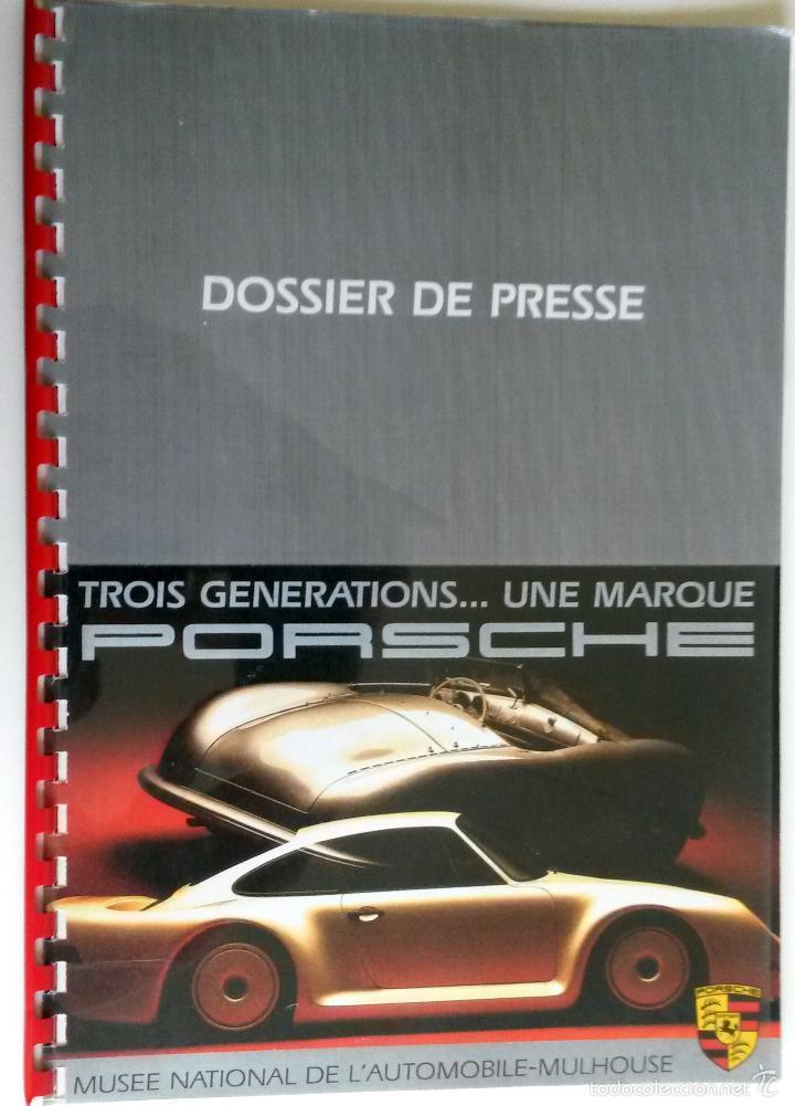 DOSSIER DE PRENSA ORIGINAL PORSCHE - MUSEE NATIONAL DE L'AUTOMOBILE-MULHOUSE. (Coches y Motocicletas Antiguas y Clásicas - Catálogos, Publicidad y Libros de mecánica)