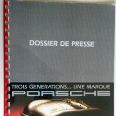 Coches y Motocicletas: DOSSIER DE PRENSA ORIGINAL PORSCHE - MUSEE NATIONAL DE L'AUTOMOBILE-MULHOUSE.. Lote 56155440