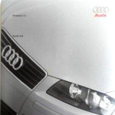 Coches y Motocicletas: DOSSIER DE PRENSA ORIGINAL AUDI - A3- 2003.. Lote 56215005