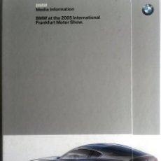 Coches y Motocicletas: DOSSIER DE PRENSA ORIGINAL BMW - FRANKFURT - 2005.. Lote 56237814