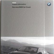 Coches y Motocicletas: DOSSIER DE PRENSA ORIGINAL BMW - 3ER COUPÉ - 2006.. Lote 56238038