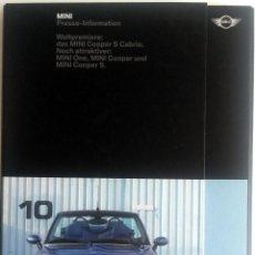 Coches y Motocicletas: DOSSIER DE PRENSA ORIGINAL MINI - 2004.. Lote 56238448