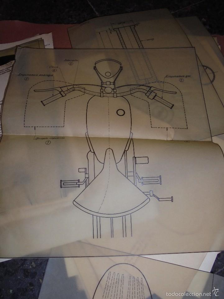 MONTESA - 2 CARPETAS UNOS 200 DOCUMENTOS , DIBUJOS ORIGINALES Y PATENTES PARA REALIZAR 1953 (Coches y Motocicletas Antiguas y Clásicas - Catálogos, Publicidad y Libros de mecánica)