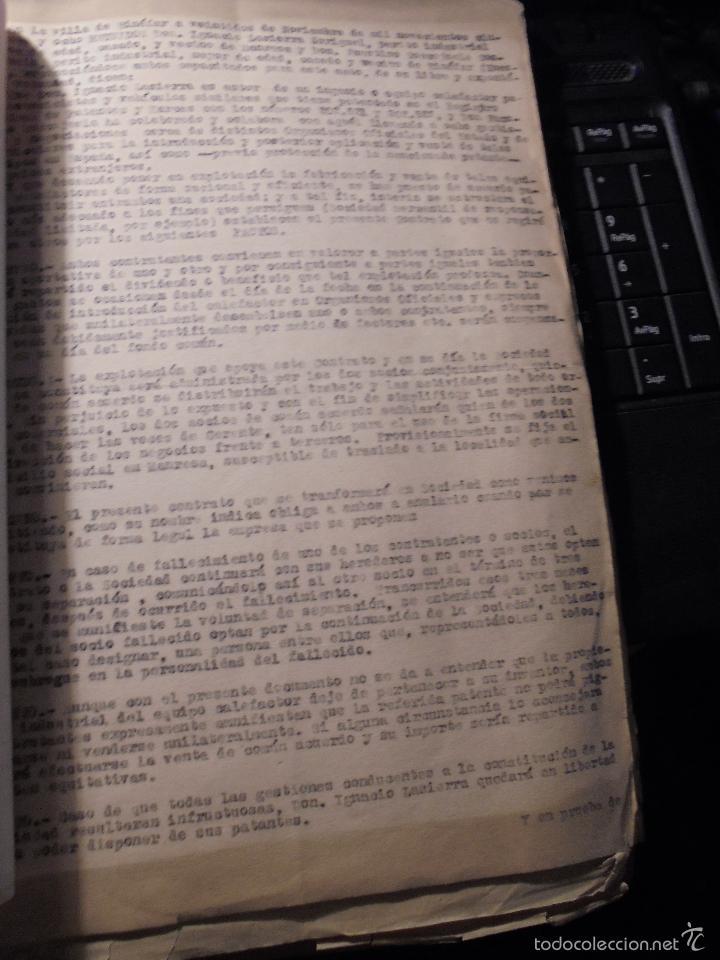 Coches y Motocicletas: MONTESA - 2 CARPETAS UNOS 200 DOCUMENTOS , DIBUJOS ORIGINALES Y PATENTES PARA REALIZAR 1953 - Foto 10 - 56278112