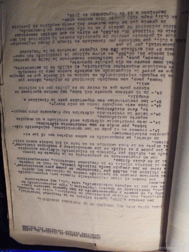 Coches y Motocicletas: MONTESA - 2 CARPETAS UNOS 200 DOCUMENTOS , DIBUJOS ORIGINALES Y PATENTES PARA REALIZAR 1953 - Foto 12 - 56278112
