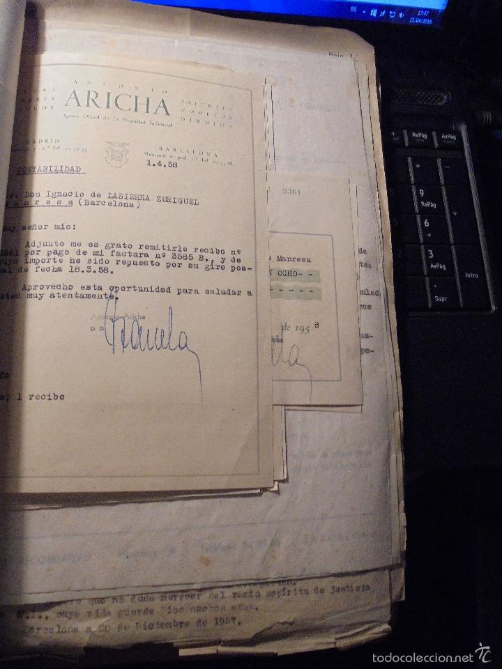 Coches y Motocicletas: MONTESA - 2 CARPETAS UNOS 200 DOCUMENTOS , DIBUJOS ORIGINALES Y PATENTES PARA REALIZAR 1953 - Foto 13 - 56278112