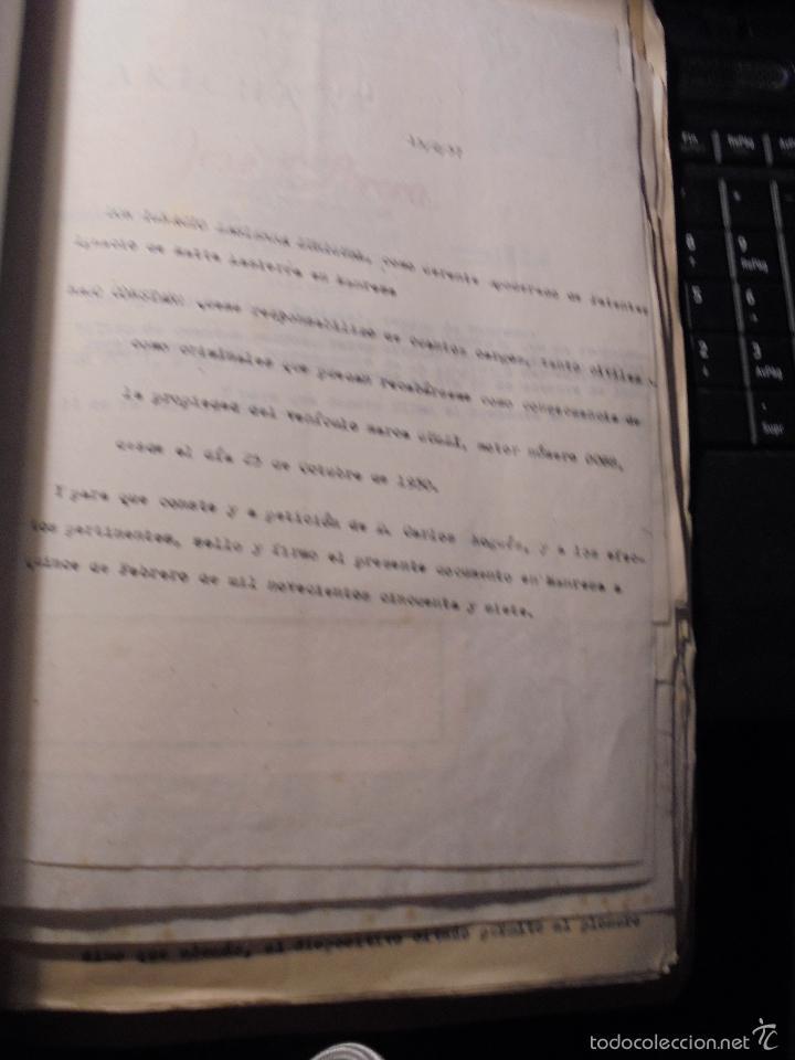 Coches y Motocicletas: MONTESA - 2 CARPETAS UNOS 200 DOCUMENTOS , DIBUJOS ORIGINALES Y PATENTES PARA REALIZAR 1953 - Foto 15 - 56278112