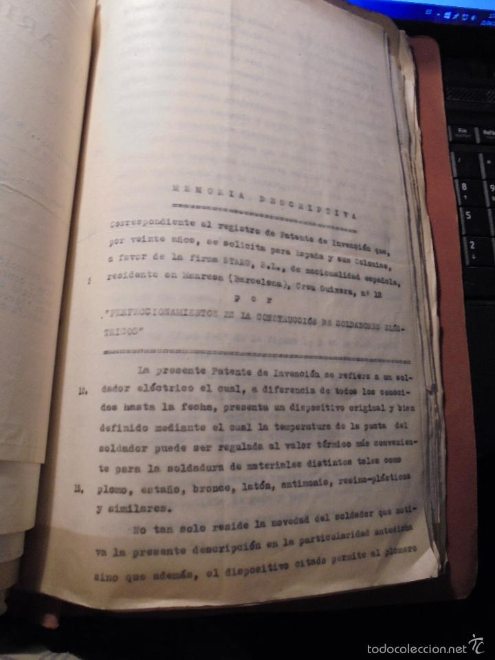 Coches y Motocicletas: MONTESA - 2 CARPETAS UNOS 200 DOCUMENTOS , DIBUJOS ORIGINALES Y PATENTES PARA REALIZAR 1953 - Foto 17 - 56278112