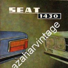 Coches y Motocicletas: SEAT 1430 - USO Y ENTRETENIMIENTO - AÑO 1971 -. Lote 56309306