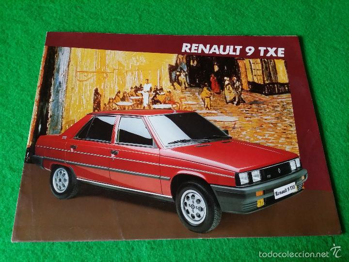 CATALOGO RENAULT 9 TXE AÑO 1985 (Coches y Motocicletas Antiguas y Clásicas - Catálogos, Publicidad y Libros de mecánica)
