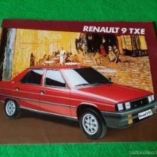 Coches y Motocicletas: CATALOGO RENAULT 9 TXE AÑO 1985. Lote 56330462