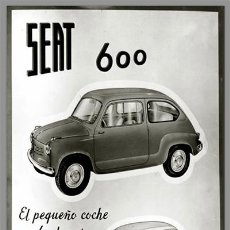 Coches y Motocicletas: AZULEJO 20X30 DE PUBLICIDAD SEAT 600. Lote 82320758
