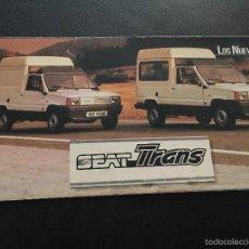 Coches y Motocicletas - Folleto catalogo publicidad original seat trans de 1982 - 56380804
