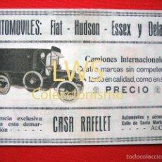 Coches y Motocicletas: IMAGENES - AUTOMOVILES FIAT - HUDSON - ESSEX Y DELAGE ALCOY - AUTOMOVILES, COCHES, MOTOR. Lote 56398730