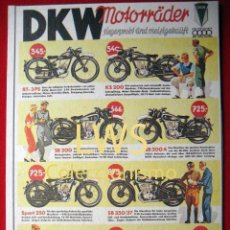 Coches y Motocicletas: DKW MOTORRÄDER - PUBLICIDAD IMAGENES - MOTOCICLISMO MOTOS - MOTOR. Lote 56473631