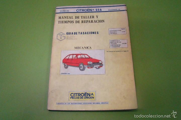 MANUEL DE TALLER CITROEN GSA TOMO II (Coches y Motocicletas Antiguas y Clásicas - Catálogos, Publicidad y Libros de mecánica)