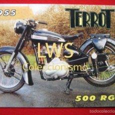 Coches y Motocicletas: TERROT 500 RGST 1955 - PUBLICIDAD IMAGENES - MOTOCICLISMO MOTOS - MOTOR. Lote 56489603