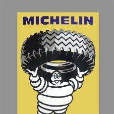Coches y Motocicletas: AZULEJO 40X25 PUBLICIDAD MICHELIN. Lote 56534569