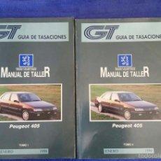 Coches y Motocicletas: MANUAL DE TALLER PEUGEOT 405 / TOMOS I Y II / ENERO 1996. Lote 56545128