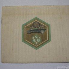 Coches y Motocicletas: LIBRITO PUBLICIDAD AUTOMOVILES NAG -AÑO 1921 - VER FOTOS - (V-5458). Lote 56590862