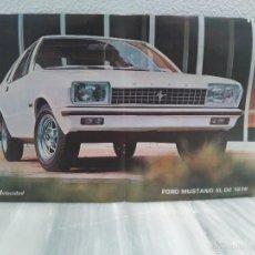 Coches y Motocicletas: POSTER - CARTEL COCHE FORD MUSTANG III - 1976 - VELOCIDAD . Lote 56599864