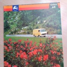 Coches y Motocicletas: CATALOGO FURGONETA PEGASO, SAVA J-4 1000 Y J-4 700, MICROBUS, CARACTERISTICAS MOTOR PRESTACIONES. Lote 56619870