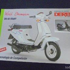 Coches y Motocicletas: PUBLICIDAD FOLLETO CATALOGO - DERBI DS-50 START - . Lote 56631122
