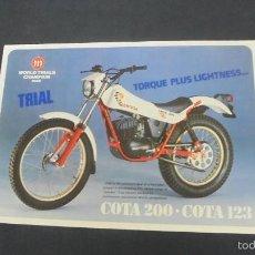 Coches y Motocicletas: PUBLICIDAD FOLLETO CATALOGO - MONTESA COTA 200 - COTA 123 -. Lote 56631776