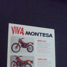 Coches y Motocicletas: PUBLICIDAD FOLLETO CATALOGO - MONTESA - DISTINTOS MODELOS. Lote 56633221