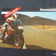Coches y Motocicletas: PUBLICIDAD FOLLETO CATALOGO - KAWASAKI - DISTINTOS MODELOS -. Lote 56633556