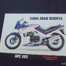 Coches y Motocicletas: PUBLICIDAD FOLLETO CATALOGO - KAWASAKI GPZ 500. Lote 56633582