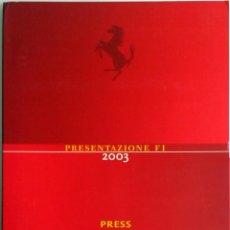 Coches y Motocicletas: DOSSIER DE PRENSA OFICIAL- F1 - ESCUDERIA FERRARI 2003.. Lote 56697951