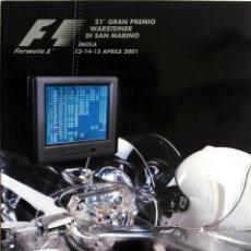 Coches y Motocicletas: PROGRAMA OFICIAL- F1 - G.P. SAN MARINO, CIRCUITO ÍMOLA 2001.. Lote 56722474