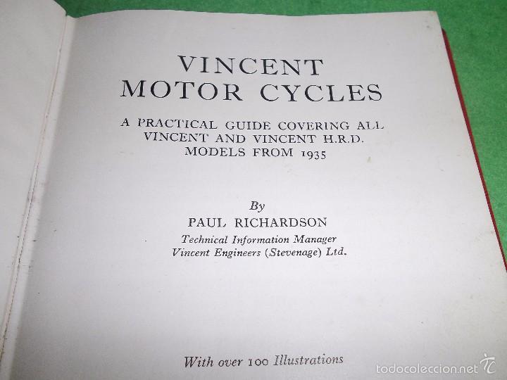 Coches y Motocicletas: DIFICIL MOTOCICLETA VINCENT HRD MANUAL 1955 GUIA PRACTICA DESDE 1935 INSTRUCCIONES MANTENIMIENTO - Foto 5 - 56803673