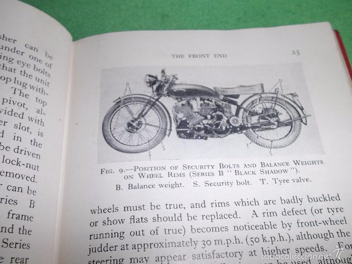 Coches y Motocicletas: DIFICIL MOTOCICLETA VINCENT HRD MANUAL 1955 GUIA PRACTICA DESDE 1935 INSTRUCCIONES MANTENIMIENTO - Foto 9 - 56803673