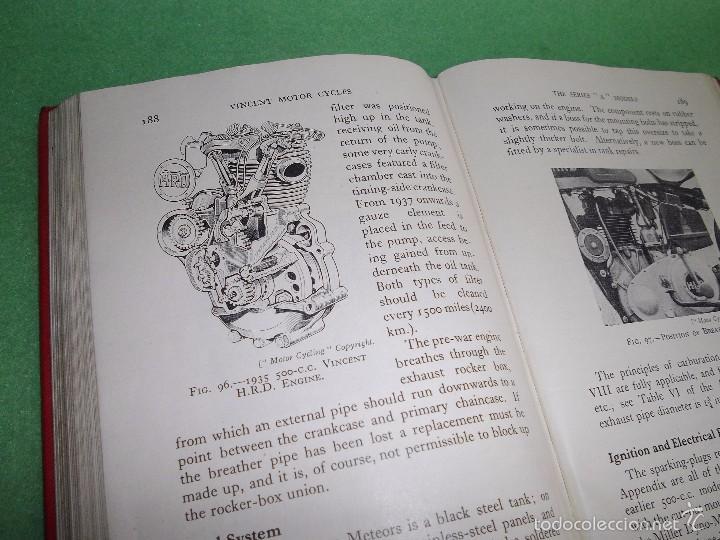 Coches y Motocicletas: DIFICIL MOTOCICLETA VINCENT HRD MANUAL 1955 GUIA PRACTICA DESDE 1935 INSTRUCCIONES MANTENIMIENTO - Foto 13 - 56803673