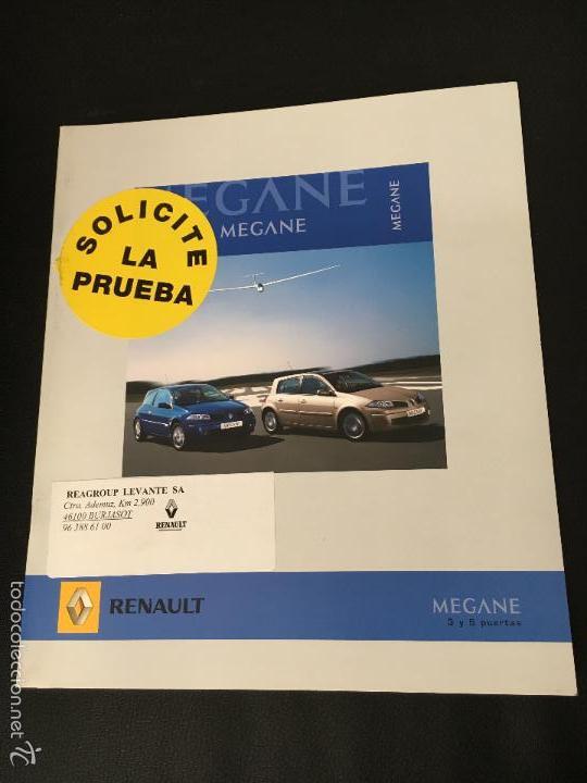 FOLLETO CATALOGO PUBLICIDAD ORIGINAL RENAULT MEGANE 3 Y 5 PUERTAS DE 2006 (Coches y Motocicletas Antiguas y Clásicas - Catálogos, Publicidad y Libros de mecánica)