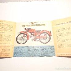 Coches y Motocicletas: CATALOGO DESPLEGABLE MOTO GUZZI HISPANIA. CARDELLINO 75 AÑOS 50 EN CASTELLANO. Lote 56844662