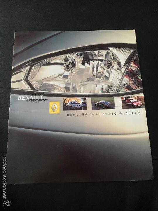 FOLLETO CATALOGO PUBLICIDAD ORIGINAL RENAULT MEGANE BERLINA-CLASSIC-BREAK DE 2000 (Coches y Motocicletas Antiguas y Clásicas - Catálogos, Publicidad y Libros de mecánica)
