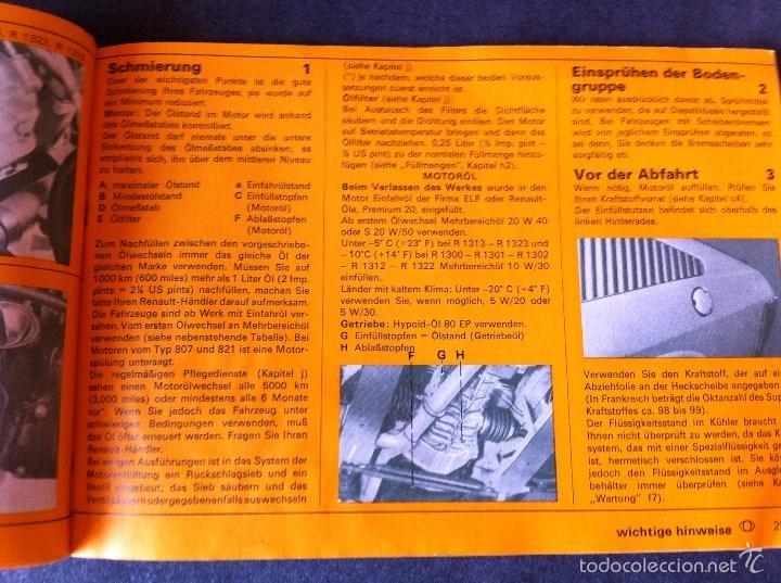 Coches y Motocicletas: Renault 15 y 17. Manual de usuario. Leer descripción. - Foto 7 - 56903747