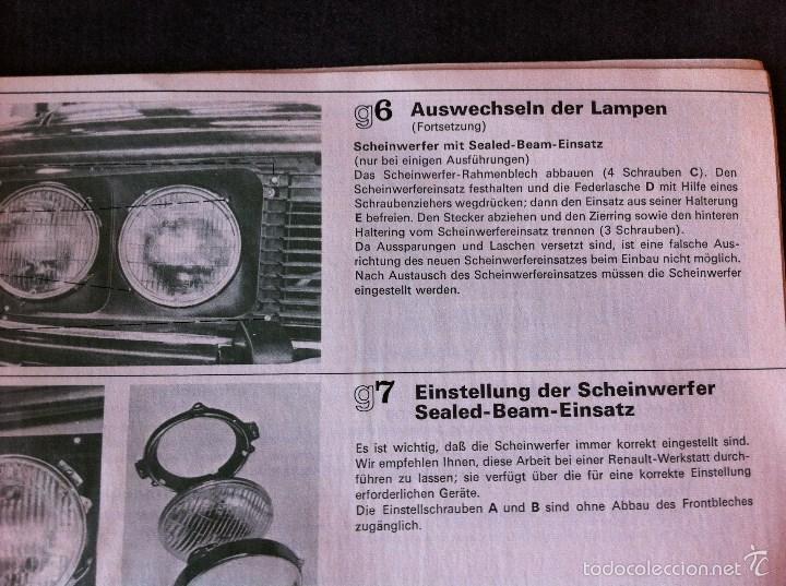 Coches y Motocicletas: Renault 15 y 17. Manual de usuario. Leer descripción. - Foto 8 - 56903747