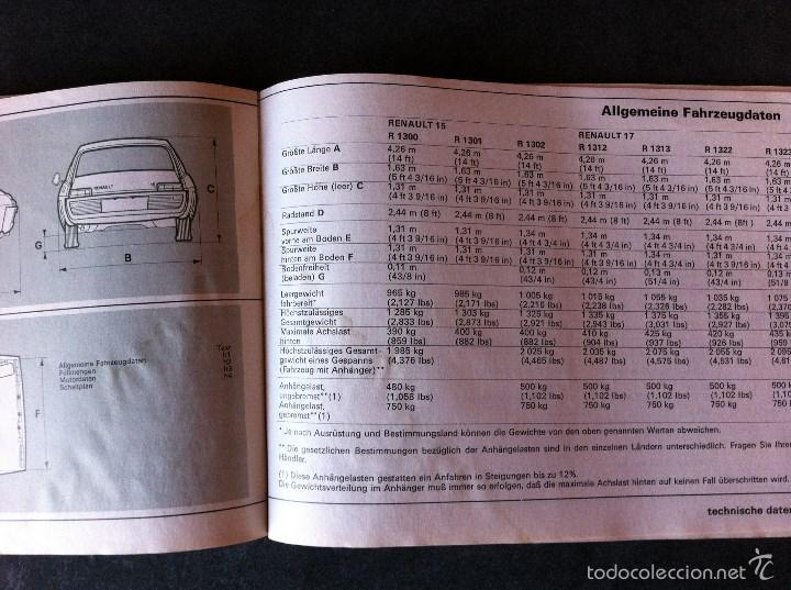 Coches y Motocicletas: Renault 15 y 17. Manual de usuario. Leer descripción. - Foto 10 - 56903747